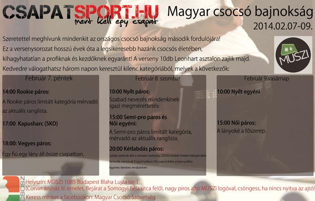 CSAPATSPORT.HU Magyar Csocsó Bajnokság 2013-14 2. forduló