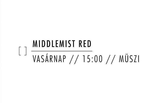 Middlemist Red ülős minikoncert és felvétel a Müsziben
